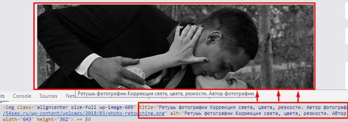 Alt-текст говорит нам что могли бы увидеть на картинке когда зашли на страницу а картинка отключена и Title-подсказка мы читаем дополнение или разъяснение к картинке.