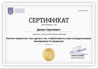 Сертификат: Как писать проддающие тексты